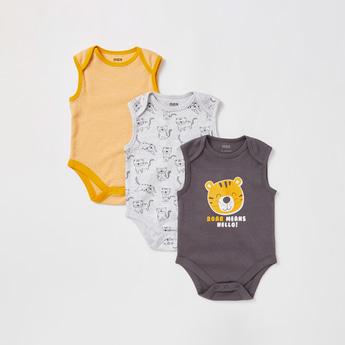 Set of 3 - Printed Sleeveless Bodysuit