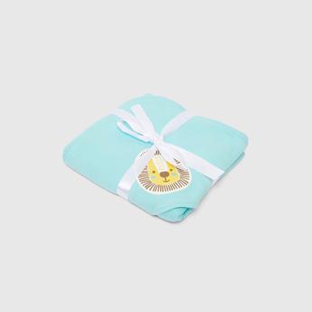 بطانية لحديثي الولادة بغطاء للرأس وطبعات - 80x80 سم