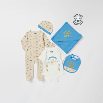 Printed 5-Piece Apparel Festive Gift Set