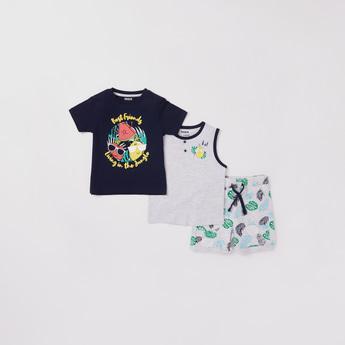 Graphic Print 3-Piece Clothing Set