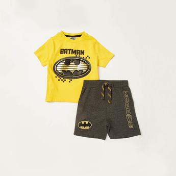 Batman Graphic Print T-shirt with Shorts Set
