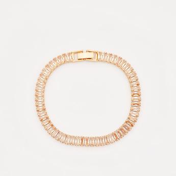 Studded Bracelet with Foldover Clasp