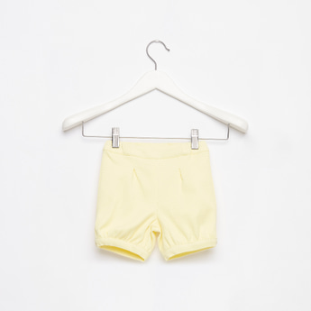 Jacquard Textured Shorts with Elasticated Waistband