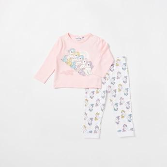 My Little Pony Graphic Print T-shirt and All-Over Print Pyjama Set