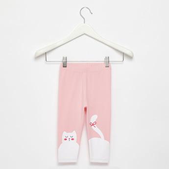 Full-Length Skinny Fit Cat Print Leggings