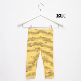 Printed Full Length Leggings with Elasticated Waistband
