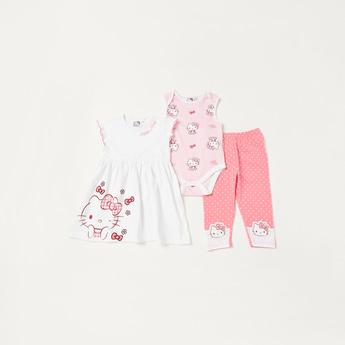 Hello Kitty Graphic Print 3-Piece Clothing Set