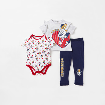 Minnie Mouse Graphic Print 3-Piece Clothing Set