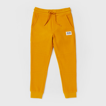 Textured Jog Pants with Pocket Detail and Elasticated Waistband