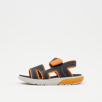 Cutout Sandals with Hook and Loop Closure