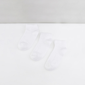 Textured School Ankle Length Socks - Set of 3