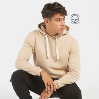 Solid Hooded Sweatshirt with Kangaroo Pocket and Long Sleeves