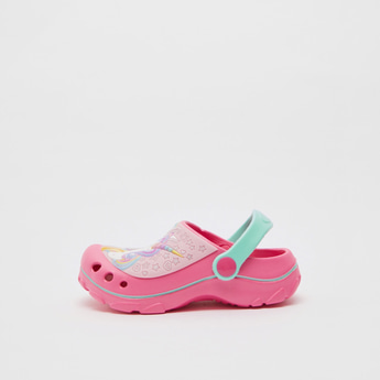 Unicorn Embossed Detail Clogs with Slingback