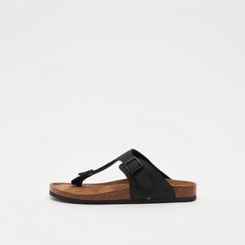 Solid Thong Style Slip-On Sandals