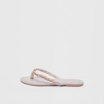 Chain Detail Thong Sandals