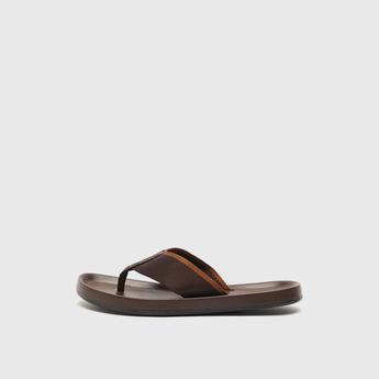 Textured Slip-On Thong Slippers