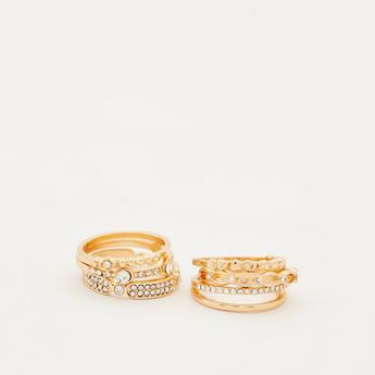 Pack of 6 - Studded Finger Rings