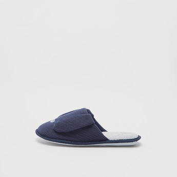 Textured Slip-On Bedroom Slippers with Ear Accents