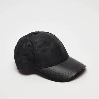 All-Over Print Cap with Hook and Loop Closure