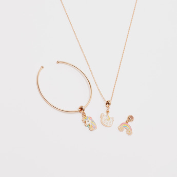 Applique Charm 3-Piece Jewellery Set