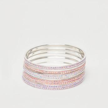Set of 5 - Crystal Studded Bangles
