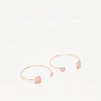 Set of 2 - Unicorn Embellished Cuff Bracelet
