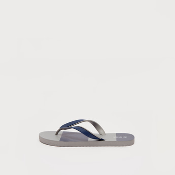 Textured Colourblock Flip Flops
