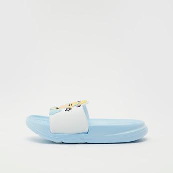 Cinderella Embossed Detail Slides with Vamp Band