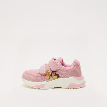 Disney Princess Textured Shoes with Hook and Loop Closure