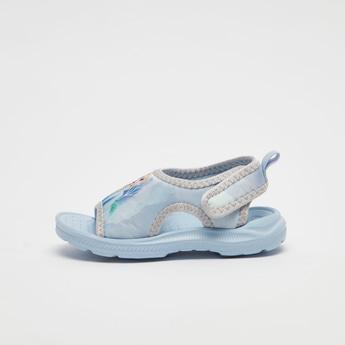 Frozen Elsa Print Sandals with Hook and Loop Closure