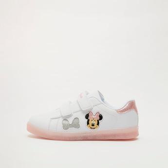 حذاء سنيكرز بطبعات ميني ماوس مع خطّاف وحلقة إغلاق