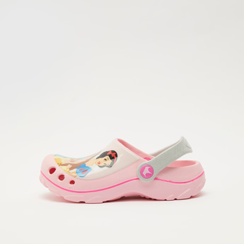 Disney Princess Print Slip-On Clog Sandals