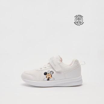 حذاء سنيكرز بطبعات ميني ماوس مع شريط إغلاق