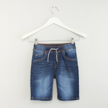 Denim Shorts with Pocket Detail and Elasticised Waistband