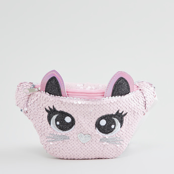 Embellished Fanny Pack with Zip Closure