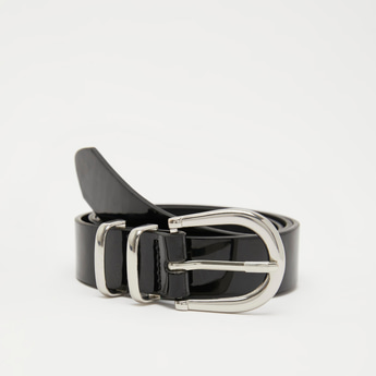 Solid Belt with Pin Buckle Closure