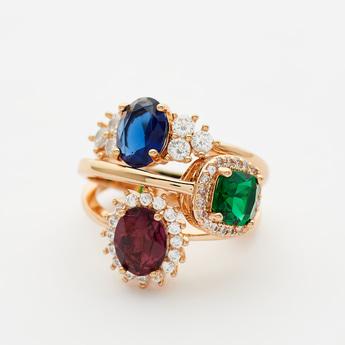 Set of 3 - Assorted Finger Rings