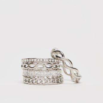 Assorted 5-Piece Embellished Finger Ring Set
