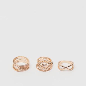 Set of 5 - Assorted Embellished Ring