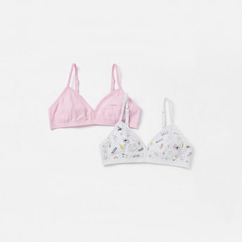 Set of 2 - Assorted Bra with Hook and Eye Closure