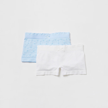 Pack of 2 - Assorted Boyshorts Briefs with Elasticised Waistband