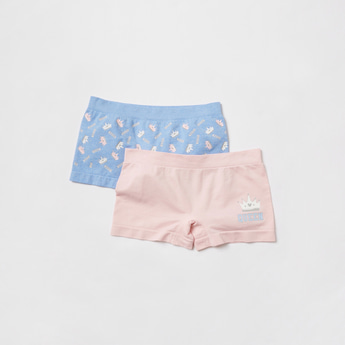 Pack of 2 - Printed Briefs with Elasticised Waistband