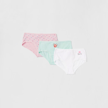 Pack of 3 - Princess Print Briefs with Elasticised Waistband