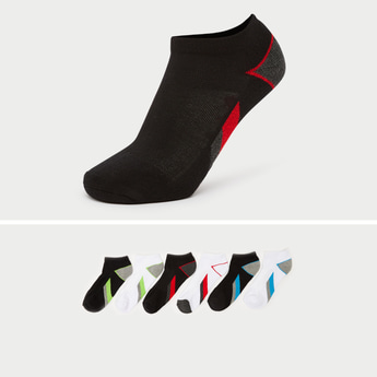 Pack of 6 - Printed Ankle Length Socks
