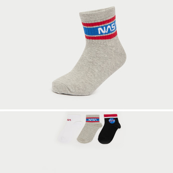 Set of 3 - NASA Themed Ankle Length Socks
