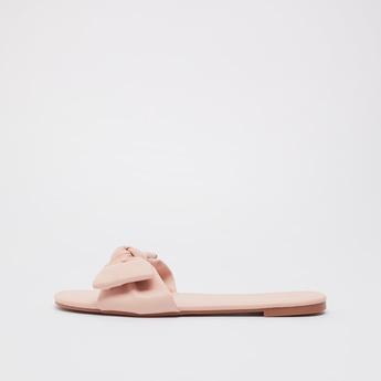Slip-On Sandals with Bow Detail