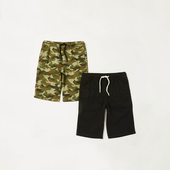 Pack of 2 - Assorted Shorts with Pockets and Drawstring