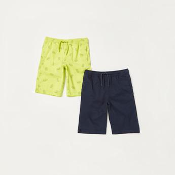 Set of 2 - Pocket Detail Shorts with Drawstring Closure