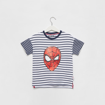 Spider-Man Sequence Round Neck T-shirt with Short Sleeves