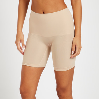 Solid Mid-Leg Shaper with Elasticated Waistband